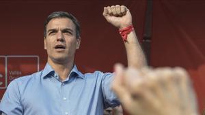 Pedro Sánchez, durante un mitin celebrado el miércoles en Sabadell.