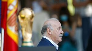 Del Bosque, en los actos conmemorativos del décimo aniversario del Mundial en la sede del CSD.