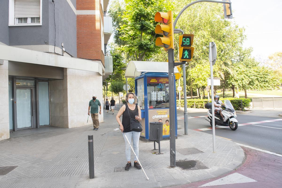 El 70% de los semáforos de Esplugues estan adaptados para invidentes