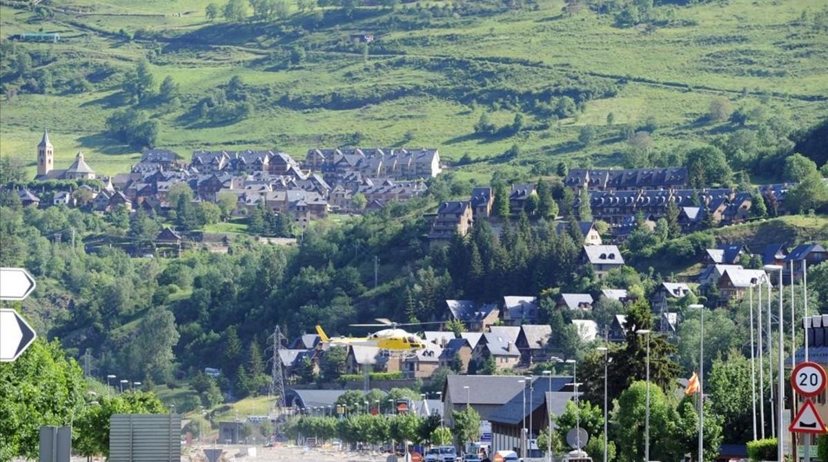 Una imagen de Vielha, en el Vall d'Aran.