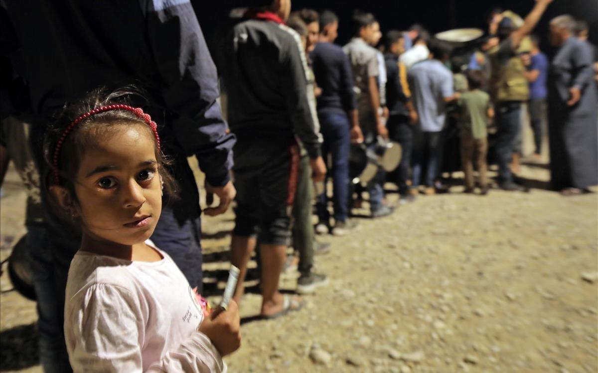 Una niña en un campamento de refugiados en Siria.