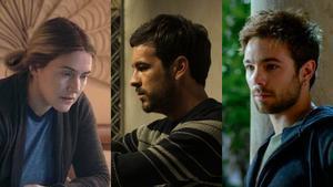 Kate Winslet en 'Mare of Easttown'; Mario Casas en 'El inocente', y Carlos Cuevas en 'Merlí. Sapere aude'.