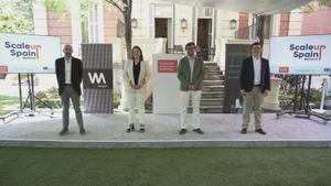 De izquierda a derecha: Javier Megías, Startup Program director en la Fundación Innovación Bankinter; Paloma Castellano, directora de Wayra Madrid; Juan Moreno Bau, managing director en la Fundación Innovación Bankinter; Antonio Iglesias, managing director de Endeavor Spain