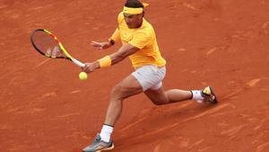 Tennis - ATP 500 - Barcelona Open - Real Club de Tenis Barcelona-1899, Barcelona, Spain - April 29, 2018   Spain's Rafael Nadal in action during the final against Greece's Stefanos Tsitsipas   REUTERS/Albert Gea