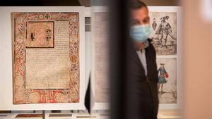 Apartado de la exposición 'Documents de la Barcelona històrica', en el ArxiuHistòric de Barcelona.