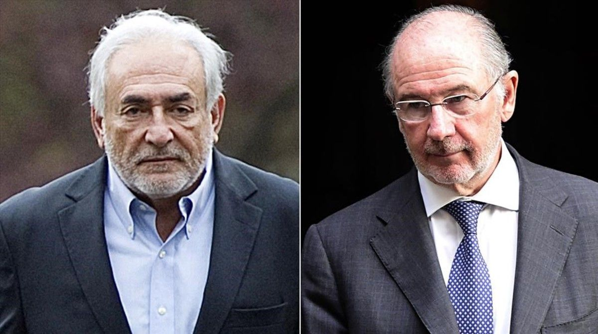 Dominique Strauss-Kahn y Rodrigo Rato.