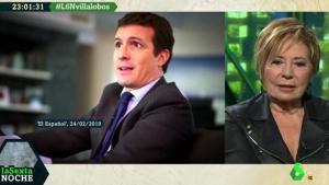 """Los dardos de Celia Villalobos a Pablo Casado en 'LaSexta Noche': """"Votaré al PP aunque no me gusten los que estén"""""""