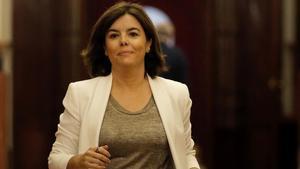 La exvicepresidenta del Gobierno Soraya Sáenz de Santamaría.