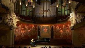 Valentina Lisitsa en su actuación en el Palau de la Música.