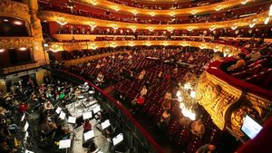 Ensayo de 'La traviata' con público en el Liceu, la semana pasada.