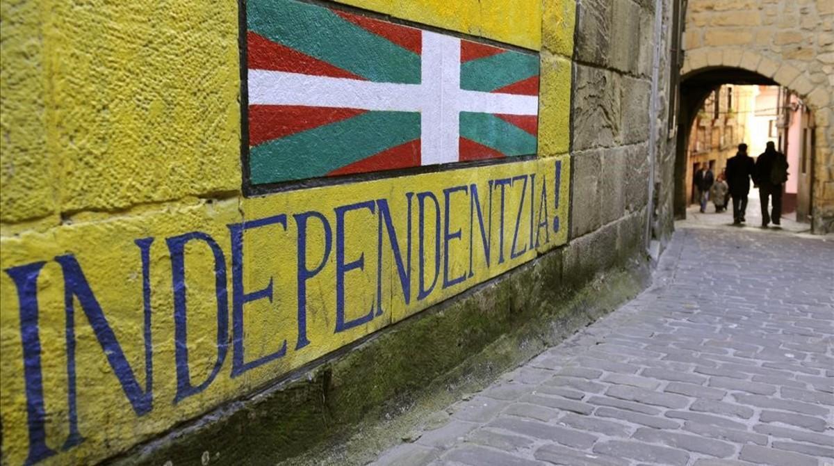 La opinión favorable a la independencia ha caido11 puntos entre los vascos en dos años.