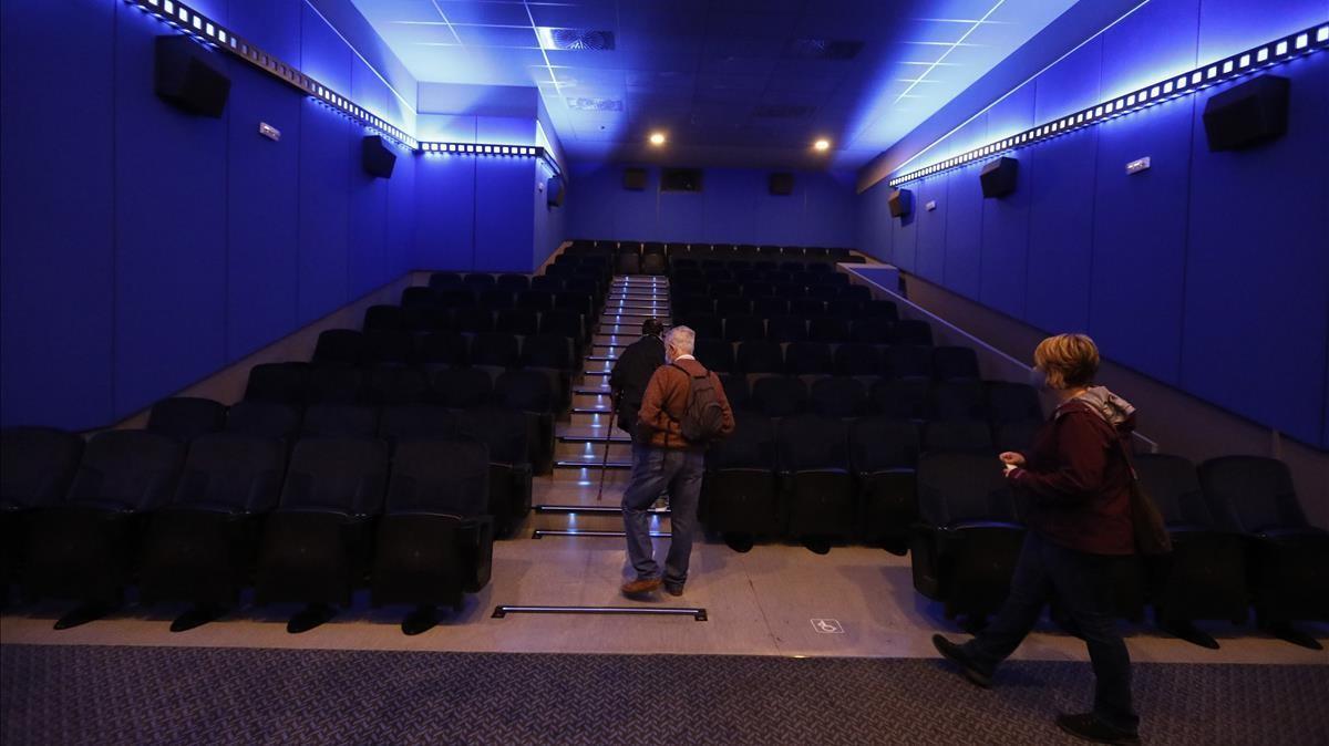 Un sala de los cines Balmes, de Barcelona, durante la pandemia.