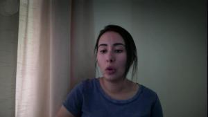 La princesa Latifa de Dubai.