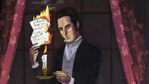 Fragmento de la ilustración de Byron Eggenschwiler, de Edgar Allan Poe, en 'Quién, qué, cuándo'.