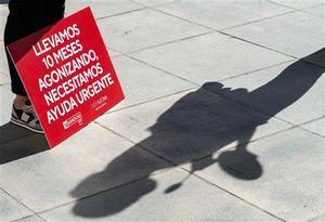Protesta en Castellón por el cierre de la hostelería.