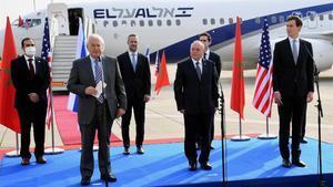 Una delegación compuesta por autoridades israelís y estadounidenses partió en el primer vuelo directo entre Israel y Marruecos.