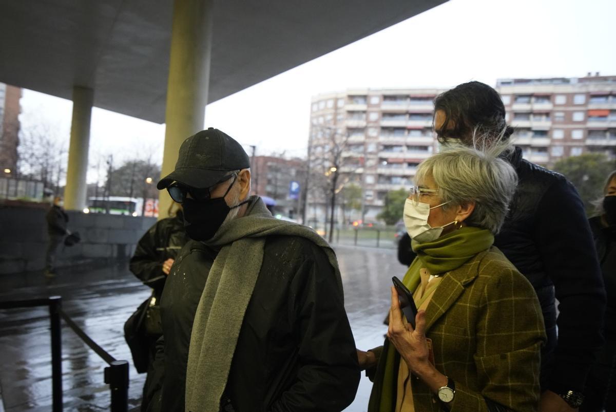 Josep María Mainat, a su llegada esta mañana a la Ciutat de la Justícia.