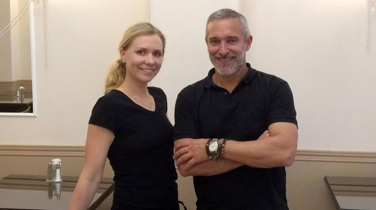Genya Petrova y Eddie Arola, en el restaurante ruso Ekaterina.