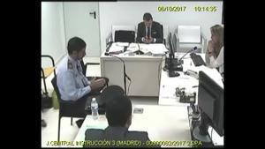 Josep Lluís Trapero declarando, ante la juez Lamela, sobre la salida de la letrada de la Administración de Justicia del Departamento de Economía.