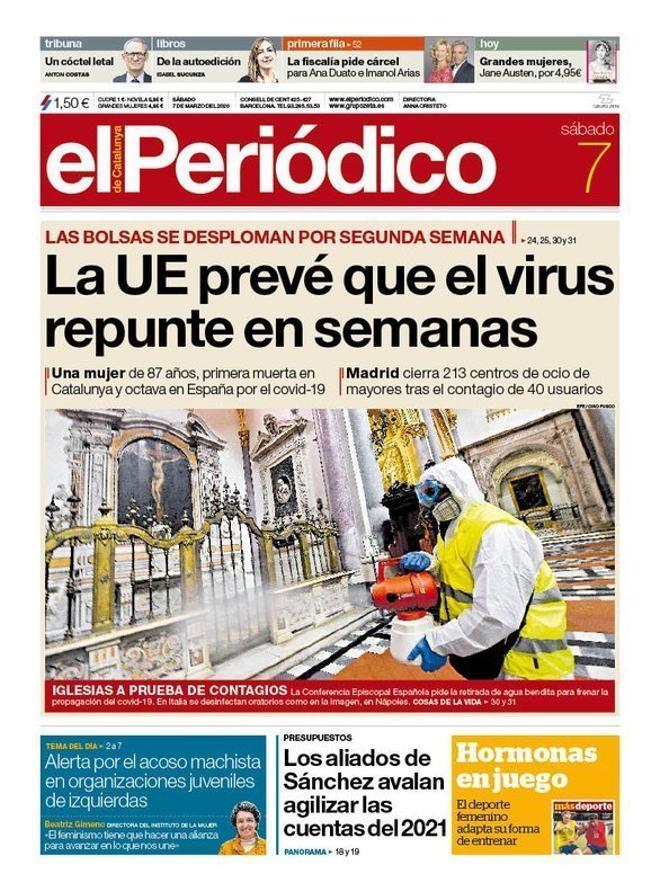 Prensa de hoy: Las portadas de los periódicos del sábado 7 de marzo del 2020