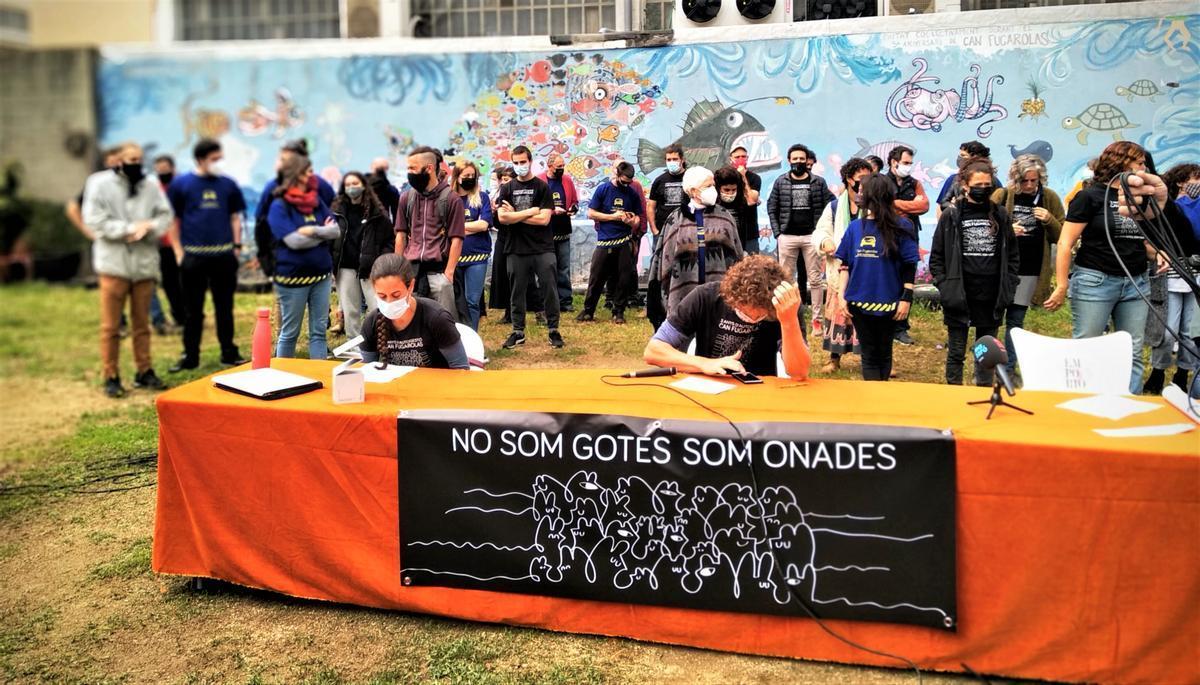 Rueda de prensa en Can Fugarolas.