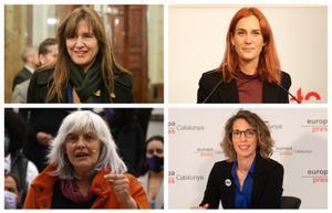Laura Borràs, Jéssica Albiach, Dolors Sabater y Àngels Chacón