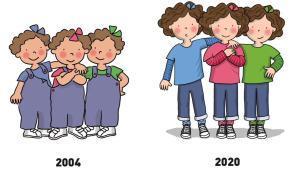 'Les tres bessones', antes y ahora.