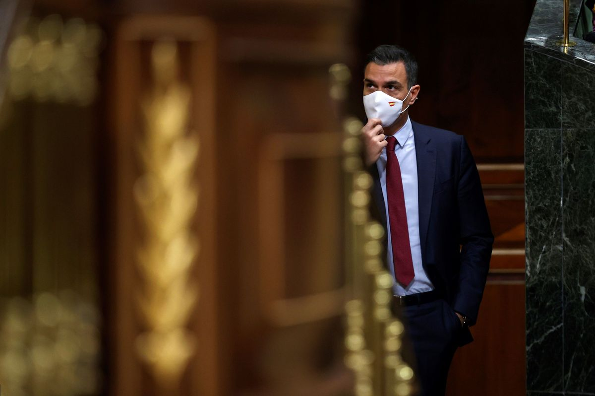 El presidente del Gobierno, Pedro Sánchez, durante su comparecencia en el pleno del Congreso para explicar los indultos del 'procés', este 30 de junio.