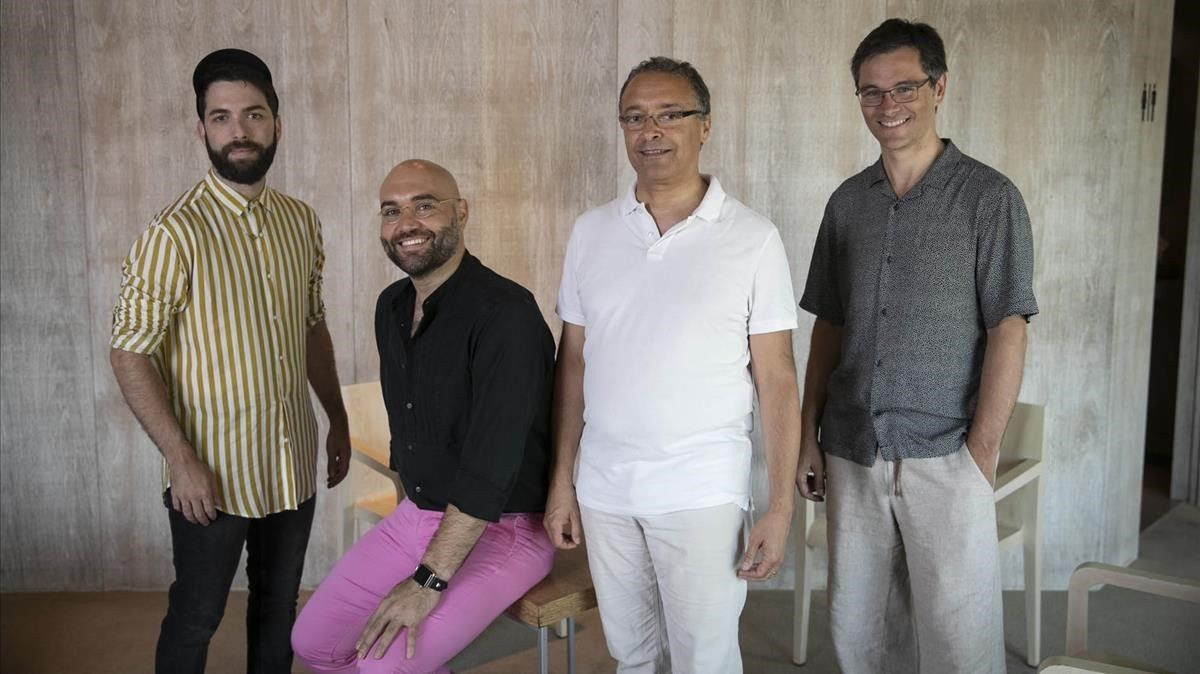 De izquierda a derecha,Rafael R. Villalobos,Xavier Sabata,Fausto Nardi y Dani Espasa.