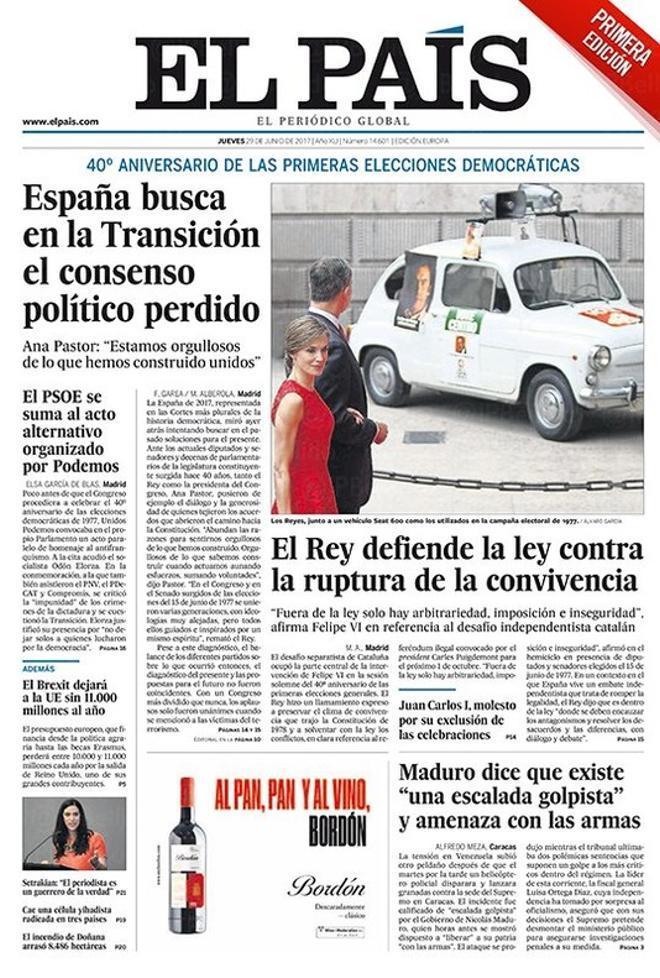Del consens perdut, la festa sense Joan Carles i l'avís de Felip VI als independentistes