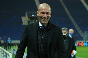 El técnico del Madrid, Zinedine Zidane, tras la última victoria de su equipo.