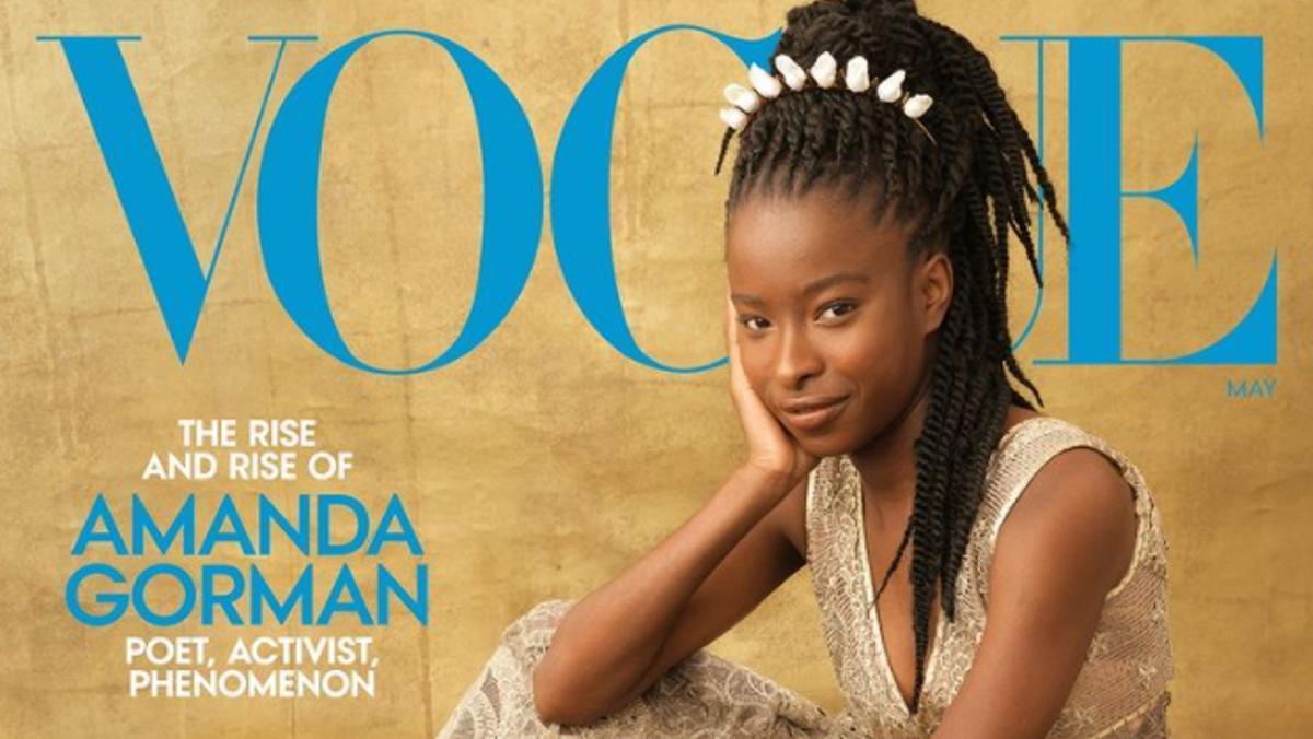 Amanda Gorman, portada de 'Vogue' de mayo.