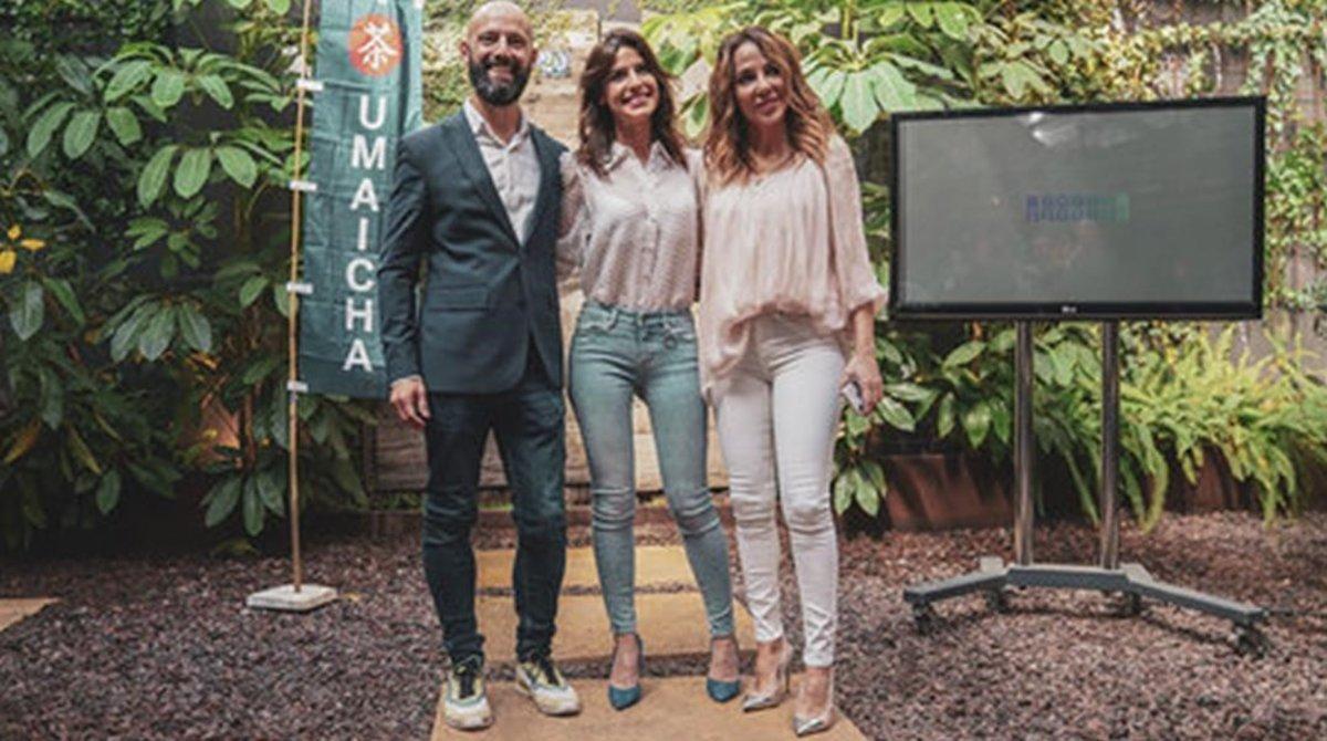 De izquierda a derecha, Serafín Murillo, Ares Teixidó y Ruth Jiménez, en la presentación de Sweet Warrior.