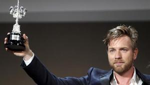 Ewan McGregor tras recibir el Premio Donostia 2012.