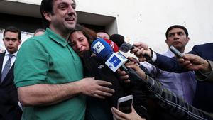 Paul Ceglialuego de recuperar su libertad en Ecuador.