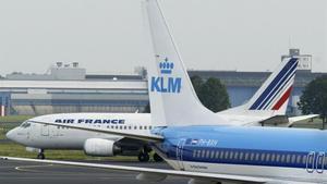 Aviones de Air Frances y KLM.