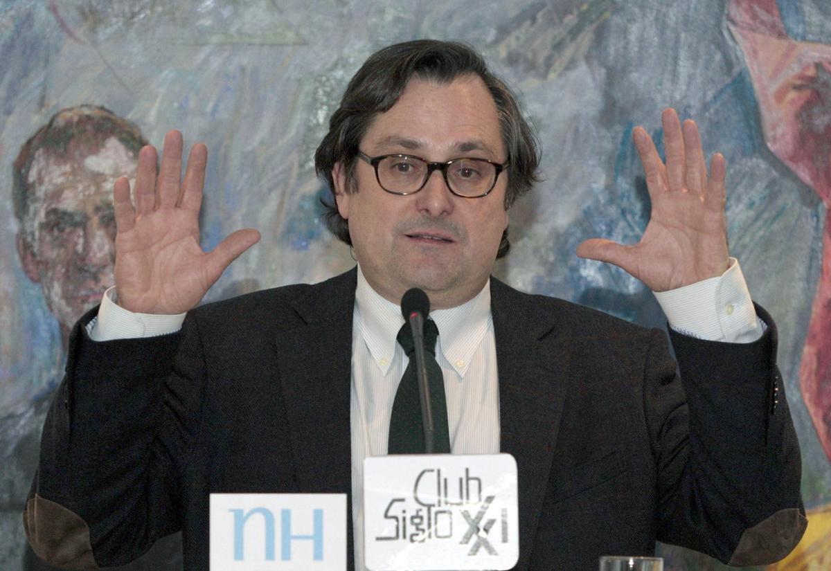El director del diario 'La Razón', Francisco Marhuenda, en un acto en Madrid, en el 2013.