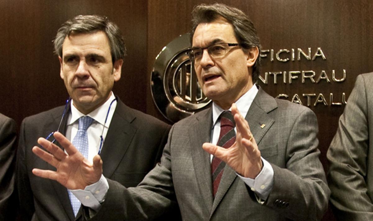 El president Mas ha firmado hoy un compromiso para luchar contra la corrupción para Catalunya.