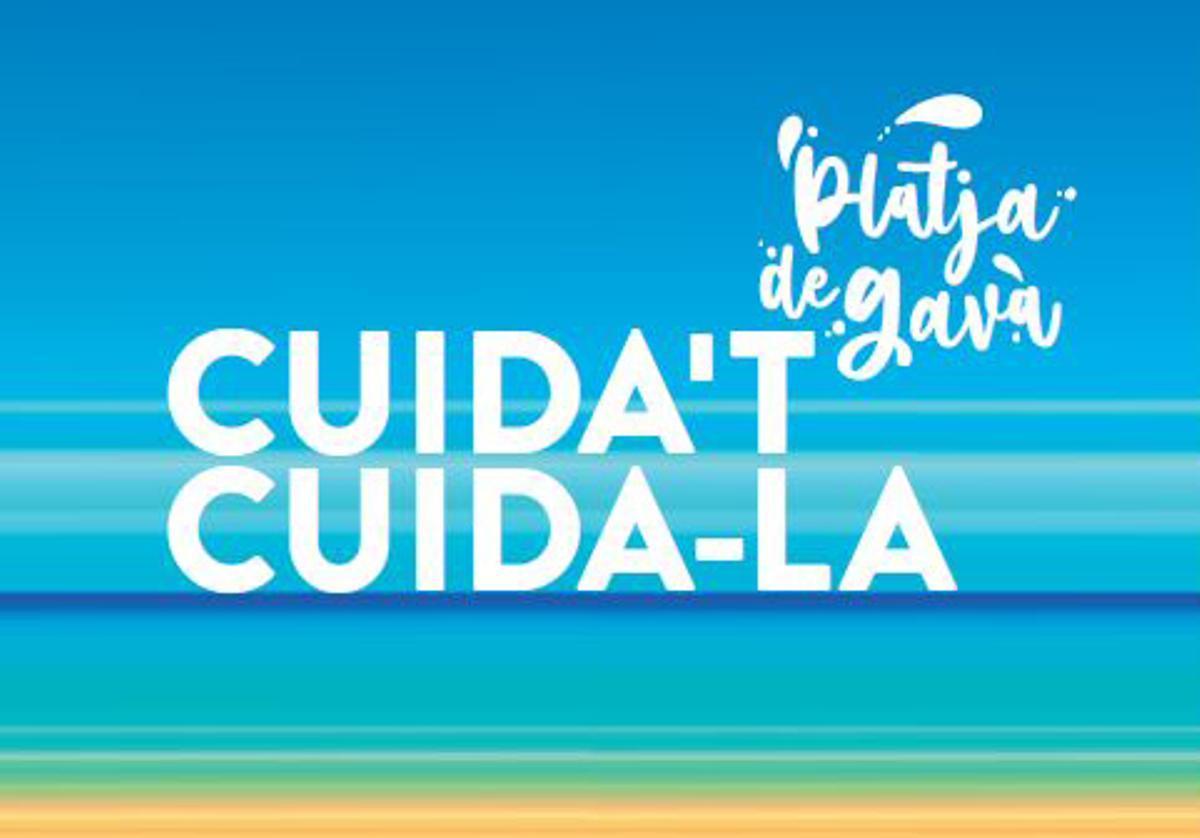 Imagen de la campanya 'Cuida't – Cuida-la' de la temporada de playa de Gavà