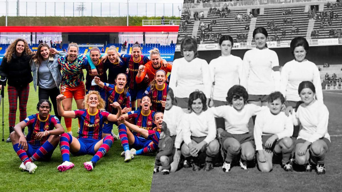 ¿Cómo nació el Barça Femenino? La portera pionera María Antonia Mínguez y Sandra Paños repasan la historia del Club.