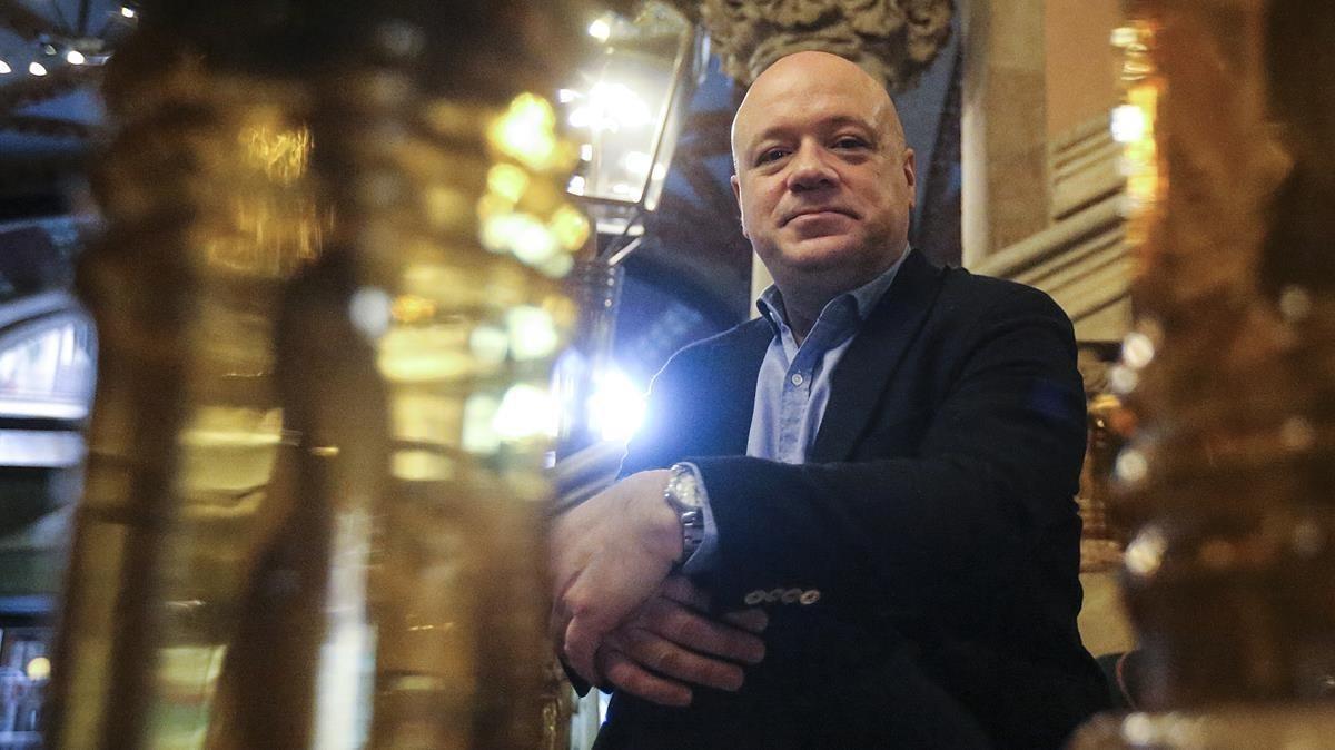 Albert Guinovart,protagonista como compositor y pianista esta semana en el Palau de la Música Catalana.