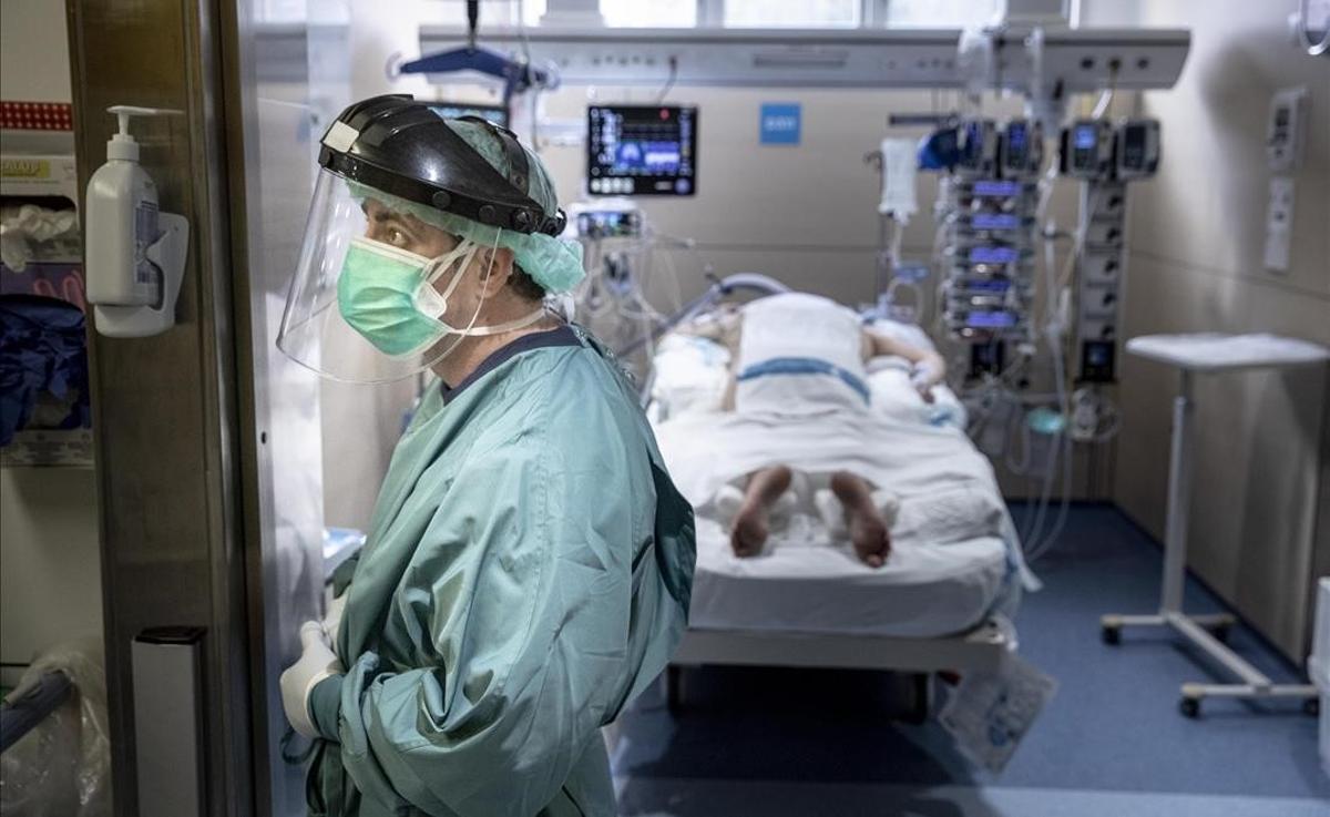 La UCI del Hospital Vall d'Hebron de Barcelona.
