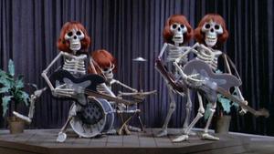 La banda de los esqueletos de la película 'Mad Monster Party' (Jules Bass, 1967).