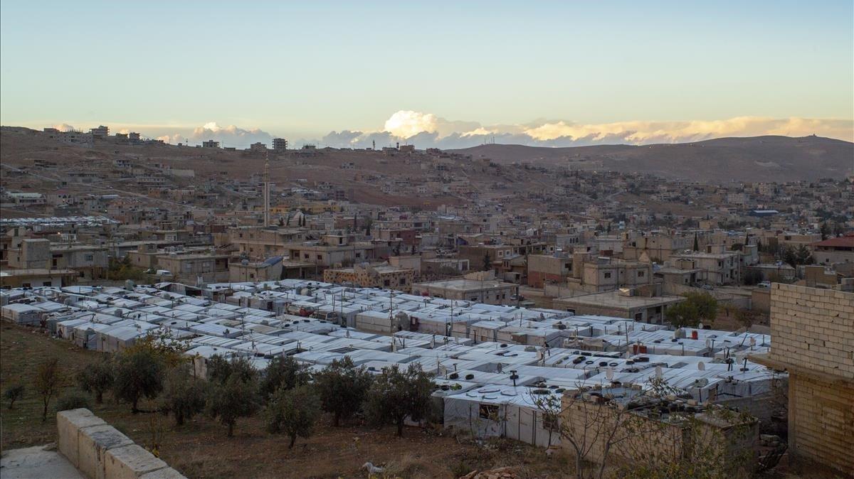Campo de refugiados en la localidad libanesa de Arsal, en la frontera con Siria.