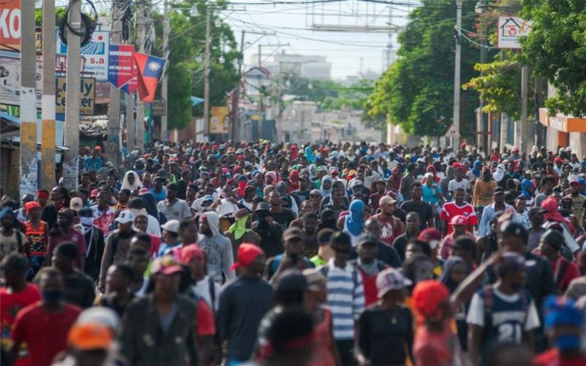 Protestas sociales en Haití en contra del Gobierno.