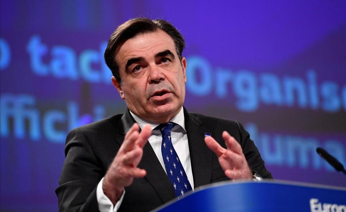 Margaritis Schinas, uno de los vicepresidentes de la Comisión Europea.