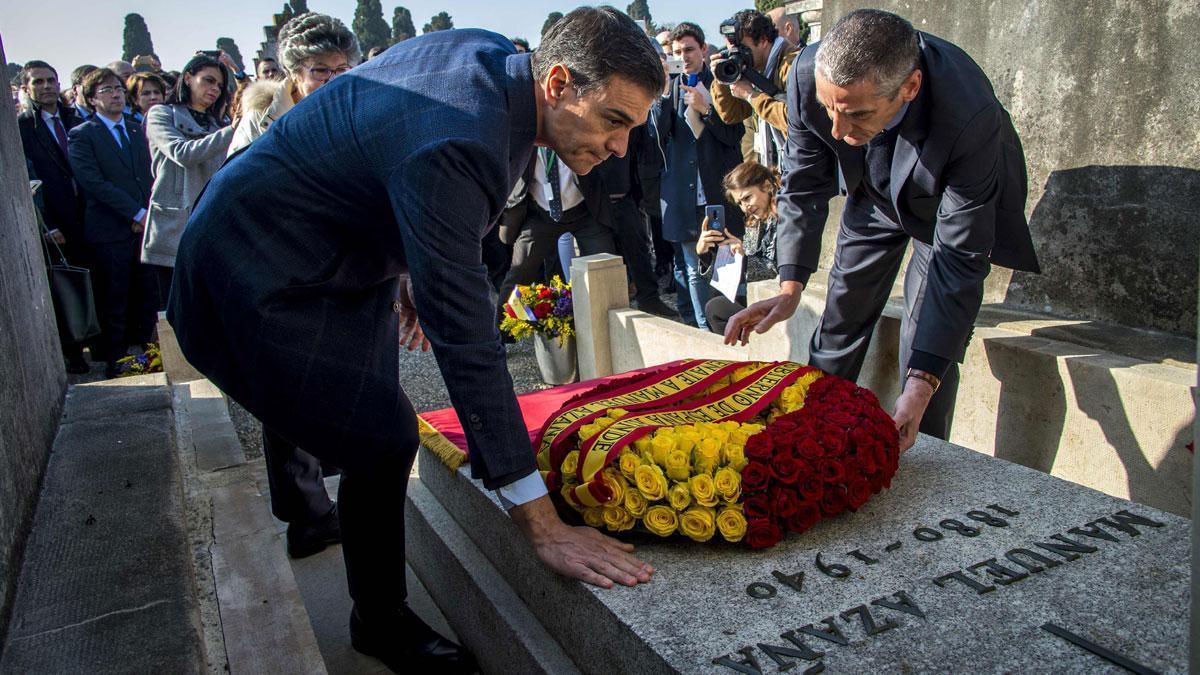 """Sánchez pide """"perdón"""" en nombre de España a los exiliados de la Guerra Civil"""