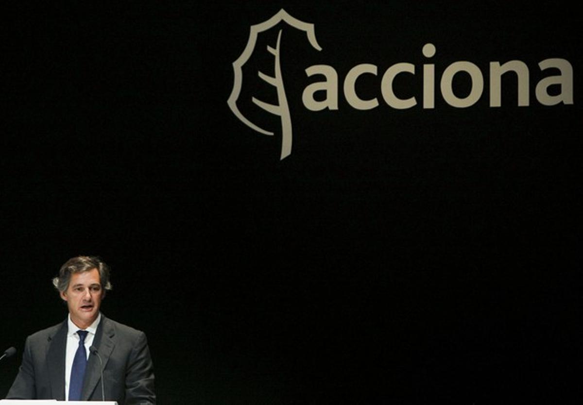 El presidente de Acciona, José Manuel Entrecanales, durante una junta general del grupo.
