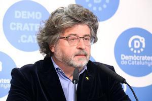 Antoni Castellà, portavoz de Demòcrates de Catalunya, en rueda de prensa.