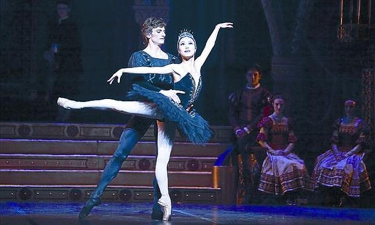 Corella y Lane, en un momento de su actuación en el Liceu.
